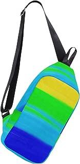 Mens Crossbody bag Rainbow Stripes Free Stock Photo Chest Backpack for Travel