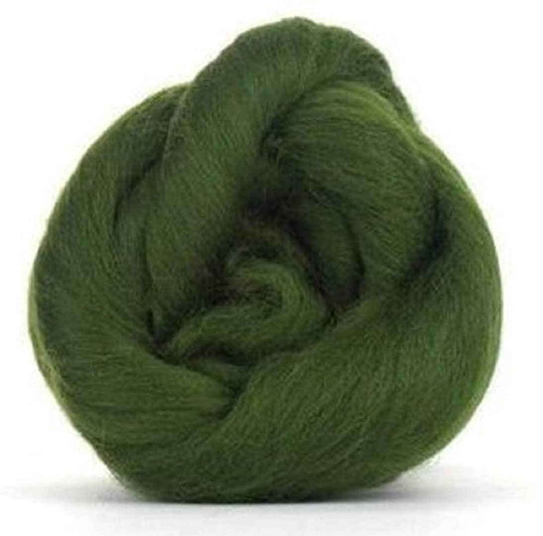 4 oz Paradise Fibers 64 Count Dyed Willow (Green) Merino Top Spinning Fiber Luxuriously Soft Wool Top Roving for Spinning with Spindle or Wheel, Felting, Blending and Weaving
