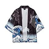 Kimono japonés Cardigan Surf Carp Print Yukata Kimono Suit 3/4 manga top pants Albornoz Cardigan Ropa para Unisex