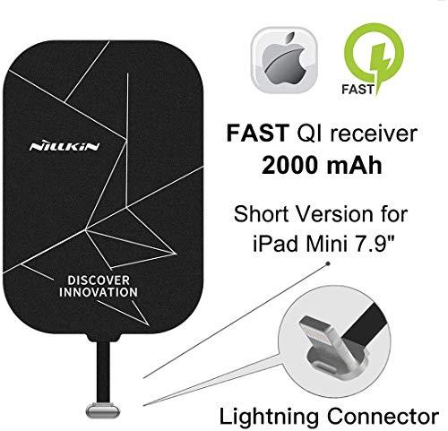 Nillkin Receptor inalámbrico Qi para iPad de 7,9 pulgadas, receptor de carga inalámbrico, chip de carga inalámbrica Tag Magic Chip compatible con iPad Mini 2/3/4/5th 7,9 pulgadas