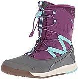 Merrell M-Snow Crush Waterproof, Botas de Nieve Unisex Niños, Morado (Purple/Turquoise), 36 EU