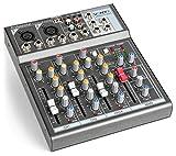 Vonyx VMM-F401 mixer de música de 4 canales USB-player AUX-IN +48V alimentación Phantom
