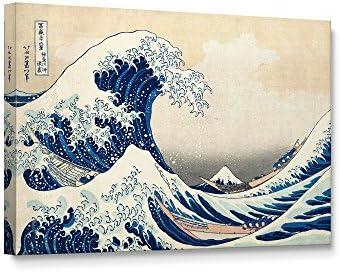 Niwo ART TM The Great Wave Off Kanagawa by Katsushika Hokusai Reproduction Giclee Wall Art for product image