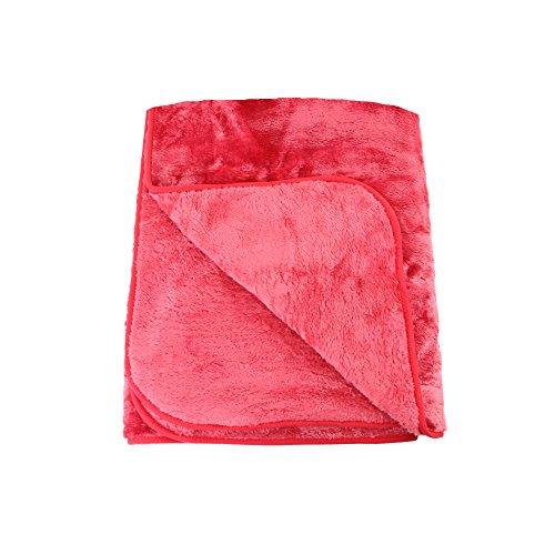 Amago Wohn- und Kuscheldecke, Cashmere-Feeling, Rot, 220 x 240 cm, 40024-37-2040