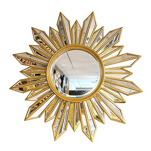 Wall Mirror, European Metal Art Wall Decorative Mirror for Bedroom, Bathroom, Office, Living Room Sofa Mirror