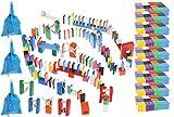 Kruzzel Dominosteine Domino Set Holz für Kinder Hindernisse 1080-tlg 9397