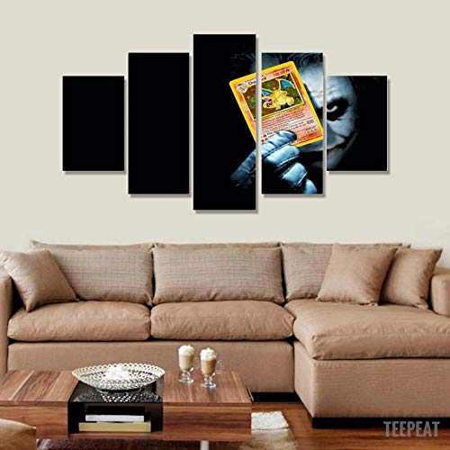 IKDBMUE Cuadro sobre Impresión Lienzo 5 Piezas-Mural Moderno 5 Piezas,Personajes de Cine de Terror Decor para El Hogar -No Tejido Lienzo Impresión-Modular Poster
