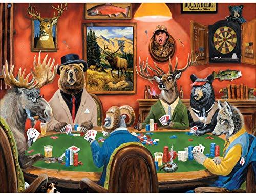 FANTINE Magisches Kartenspiel– 1000 Teile, Impossible Puzzle, Geschicklichkeitsspiel für die ganze Familie, farbenfrohes Legespiel, Erwachsenenpuzzle ab 14 Jahren