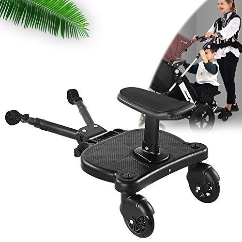 EnweNge Kinderbuggy Trittbrett für Kinderwagen mit Zusatzsitz, Kinderwagen Zubehör, Rollbrett für Kinderwagen Buggy bis 25 kg