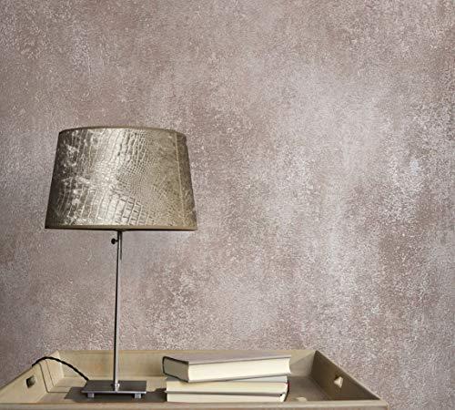 Tapete bronze Betonoptik HAILEY für Wohnzimmer Schlafzimmer oder Küche Made in Germany 10,05m x 0,53m Premium Vliestapete 82250
