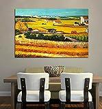 Cosecha en Arles, C.1888 Por Vincent Van Gogh la cosechahecha Reproducciones de pintura al óleo C...
