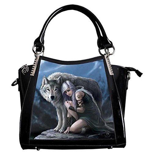 Protector - Wolf Lenticular 3D Handbag by Anne Stokes