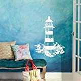 Lighthouse ~ Wall or Window Decal 20' x 26' (White)