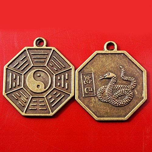 Zodiaco chino-serpiente Tai Chi Pakua Feng Shui colgantes + cinco Element hilo advpro libre Mxsabrina rojo cadena pulsera Y1043F