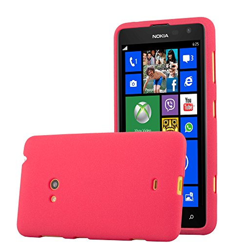 Cadorabo Hülle für Nokia Lumia 625 - Hülle in Frost ROT – Handyhülle aus TPU Silikon im matten Frosted Design - Silikonhülle Schutzhülle Ultra Slim Soft Back Cover Hülle Bumper
