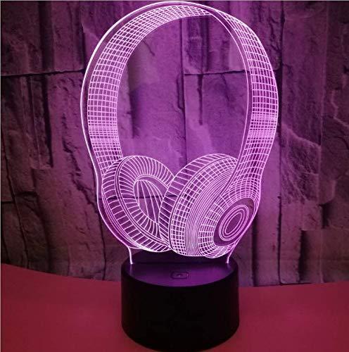 Luz nocturna LED 3D ilusión para manualidades, lámpara de estado de ánimo, regulable, luz nocturna para manualidades, lámpara de estado de ánimo con carga USB