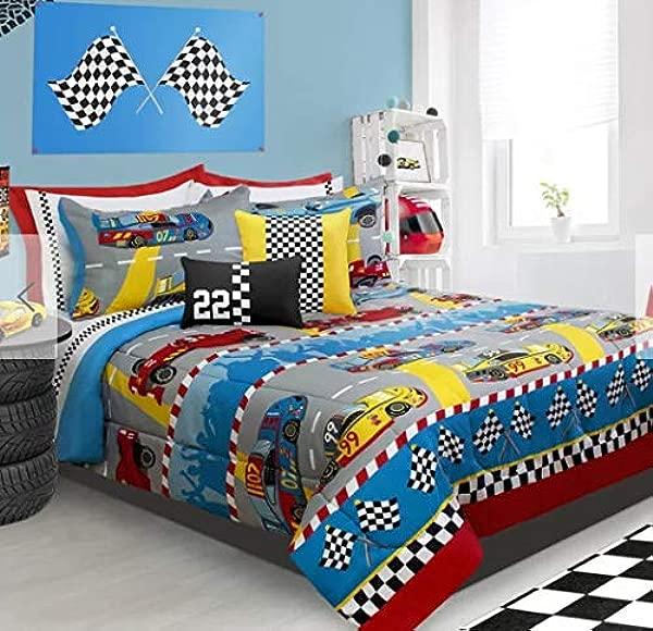 Race Cars Boys Full Queen Comforter Shams 3 Piece Bedding Set Homemade Wax Melts