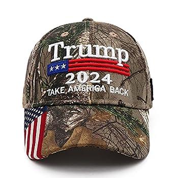 Trump 2024 Hat Donald Trump Hat 2024 Keep America Great Hat MAGA Camo Embroidered Adjustable Baseball Cap