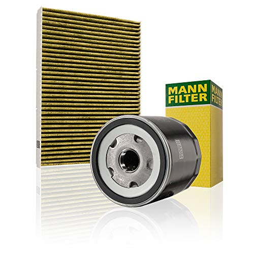 Mann Filter Original Set aus 1x Innenraumfilter FP 2862 und 1x Ölfilter W 712/52 - Für PKW, mit Aktivkohle Pollenfilter
