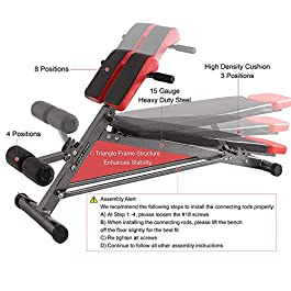 Finer Form Upgraded Multi-Functional Bench for Full All-in-O...