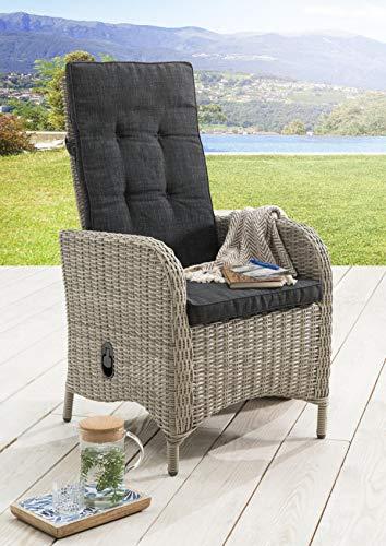 Destiny Hochlehner Sessel Palma Vintage Weiß Komfortsessel Gartensessel