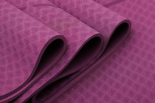 Ewedoos-Eco-Friendly-Yoga-Mat-with-Alignment-Lines-TPE-Yoga-Mat-Non-Slip-Textured-Surfaces--Inch-Thick-High-Density-Padding-To-Avoid-Sore-Knees-Perfect-for-Yoga-Pilates-and-Fitness