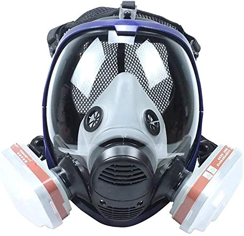 Reusable and Breathable,Full Face Protective Face Bandanas Respirator for Painting, Machine Polishing, Welding and Other Work Protection (1 Full Face Item,2 Filter Box,2 Filter Lid,10 Filter Cotton)