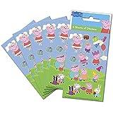 Paper Projects 01.70.15.035 Peppa Pig - Paquete de pegatinas para bolsas de fiesta (6 hojas), multicolor, 12,5 cm x 7,5 cm