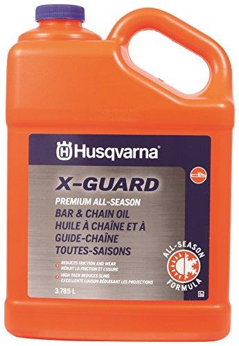 Husqvarna X-Guard Premium All Season Bar & Chain Oil, 1 Gallon, grey (593272002)