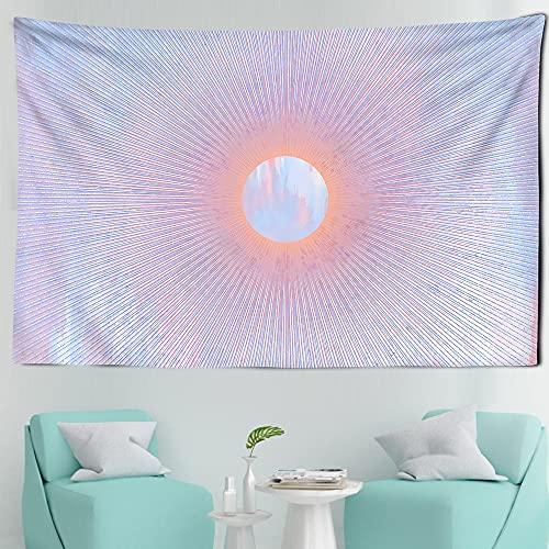 Tapiz de Luna Rosa estrelladouniverso para Colgar en la Pared, tapices de Dormitorio, Arte, hogar, psicodélico, Kawaii, decoración de habitación A20, 230x180cm