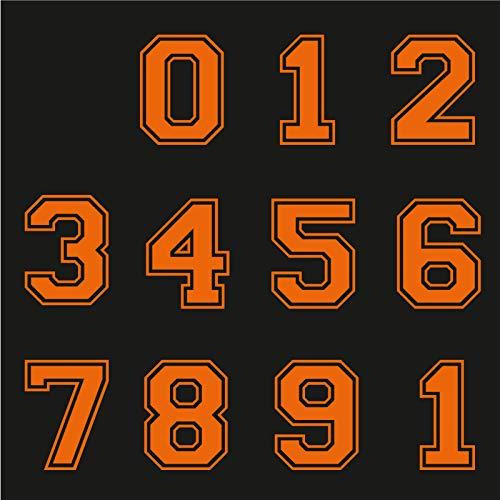 Sticker Mimo Números adhesivos grandes para moto, moto, motocross, casco, calcomanías de coche Vespa.
