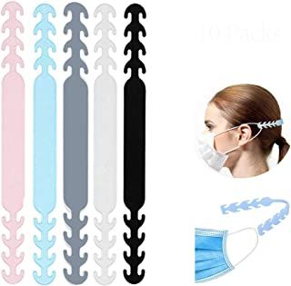 IMNED 10PCS Strap Extender Buckle for Face Cover Super Soft Silicone Anti-Tightening Comfortable Adjustable Anti-Slip Hook Ear Protector Relieving Pressure and Pain on Ear