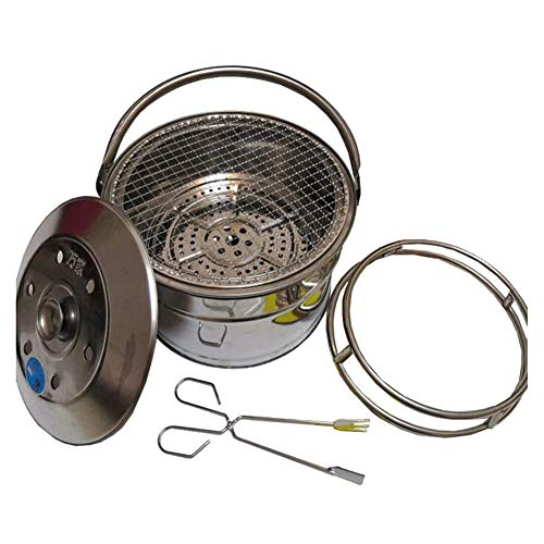 Pillows-RJF Mini portable Fire Pit - Small Firepit Bowl -Stainless steel,Outside with Cooking BBQ Grill Grate, Spark Screen- Portable with Handles - for Outside Patio & Backyard Use