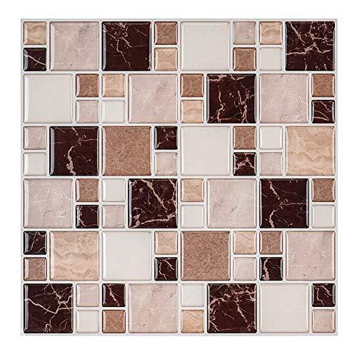 MORCART Mosaic Tiles Peel and Stick Wall Tile for Kitchen Living Room Bathroom Laundry Room Backsplashes 10'x10' 5 Packs