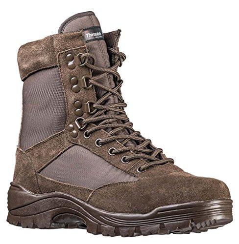 Mil-Tec Tactical Boots m. YKK Zipper braun Gr.11/ EU44