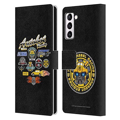 Head Case Designs Licenciado Oficialmente Transformers Bumblebee Movie Autobot Racing Gráficos Carcasa de Cuero Tipo Libro Compatible con Samsung Galaxy S21+ 5G