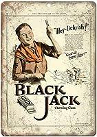 Black Jack Chewing Gum ティンサイン ポスター ン サイン プレート ブリキ看板 ホーム バーために