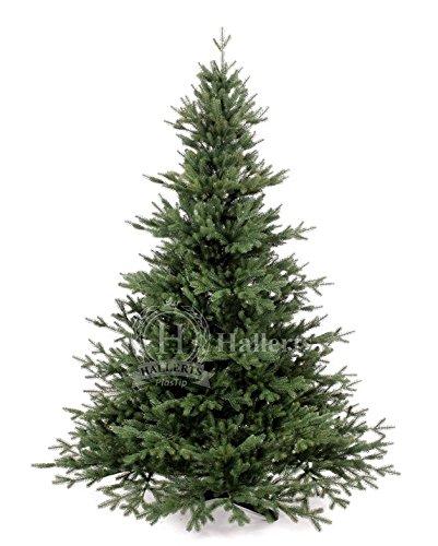Original Hallerts® Spritzguss Weihnachtsbaum Oxburgh 150 cm als Nobilis Edeltanne - Christbaum zu 100% in Spritzguss PlasTip® Qualität - schwer entflammbar nach B1 Norm, Material TÜV und SGS geprüft - Premium Spritzgusstanne