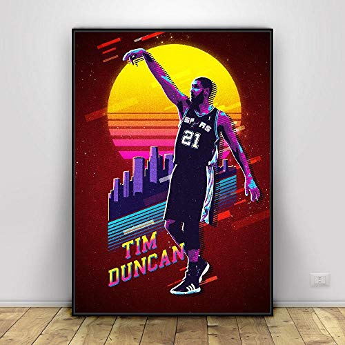 YuanMinglu Basketball Superstar Leinwand Kunst Poster gedruckt nach Hause Wanddekoration Malerei rahmenlose Malerei 60x80cm