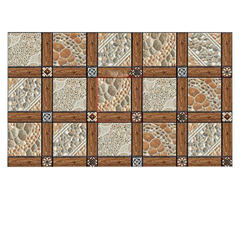 39,4 × 23,6 Pulgadas Pegatina De Imitación para Baldosas Cocina Baño Balcón Baldosa Pegatina para Suelo Autoadhesiva Pegatina para Suelo Impermeable Y Resistente Al Desgaste (Color : Footprints)