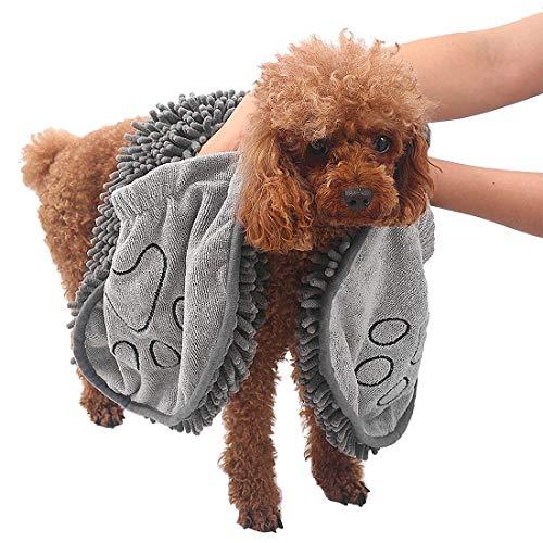 Wonnell Toalla para Mascotas, Toalla para Perros, Toalla para Mascotas Súper Absorbente de Fibra, Toalla de Baño para Mascotas, Universal para Gatos y Perros.