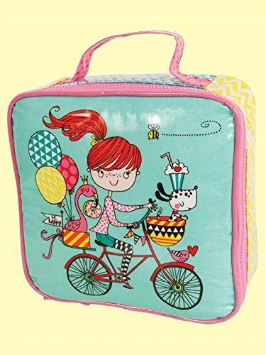 Rachel Ellen Lunchtasche–Mädchen auf Fahrrad