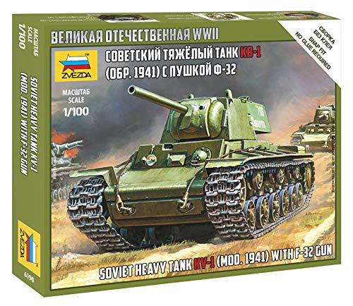 ズベズダ 1/100 ソビエト軍 KV1重戦車 プラモデル ZV6190