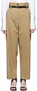 3.1 Phillip Lim (スリーワン フィリップ リム) レディース ボトムス?パンツ クロップド Beige Wool Paper Bag Cropped Trousers サイズUS6-WAISTUS28 [並行輸入品]