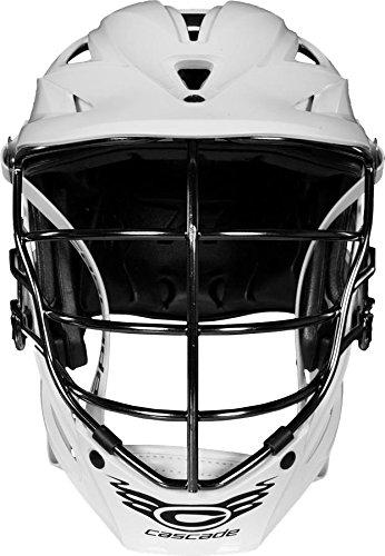 CASCADE 'R Lacrosse Helmet - All White, Black Facemask