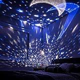 Eterichor 星月夜灯プロジェクター 2イン1 星 月と海の世界 360度回転 複数色 天井プロジェクター ベビー寝室の装飾用