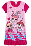 L.O.L. Surprise! Camicia da Notte Pigiama Maniche Corte Estivo Bambina Confetti Pop Abiti da Notte per Bambine (5/6 Anni, Rosa)