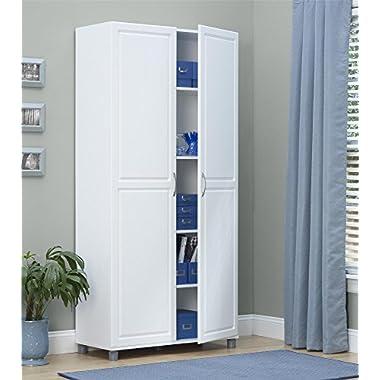 Ameriwood SystemBuild Kendall 36  Storage Cabinet, White Stipple