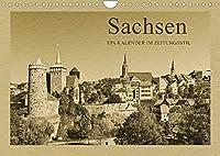 Sachsen (Wandkalender 2022 DIN A4 quer): Ein Kalender im Zeitungsstil (Monatskalender, 14 Seiten )