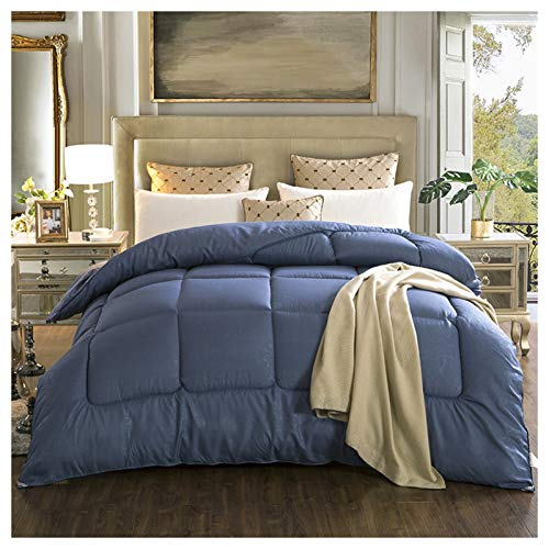 YRRA Tamaño Doble Funda Nordica Tamaño Reina, Edredón Reina lecho Hipoalergénico Cama Queen para Ropa de Cama de Dormitorio en casa,Azul,180×220cm 2kg